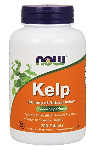 NOW FOODS, Kelp (Seetang) Jod, Schilddrüse, 150mcg, 200 Tabletten EXTRAPREIS !!!
