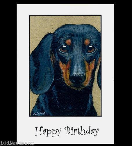 Dachshund Birthday Card EBay