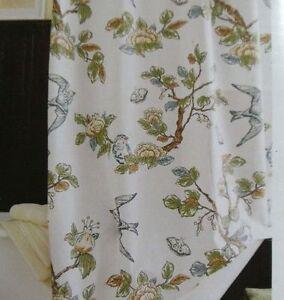Target Threshold Botanical Blue Bird Shower Curtain New EBay