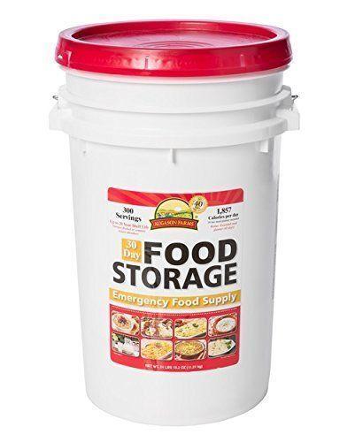 Augason Farms 30-Day Emergency Food Storage Supply 8.5 Gallon Pail - White 2