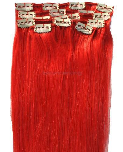 Bright Red Human Hair Extensions EBay