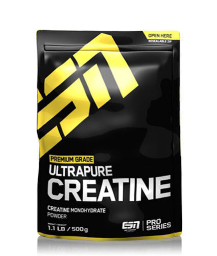 (24,96€/kg) 500g  ESN - Ultrapure Creatin Monohydrate - Creatine Pulver Kreatin