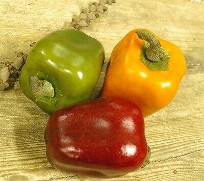 Künstliche Paprika Rot 1Stck Künstliches Obst/Gemüse Kunstobst Deko Kunstgemüse