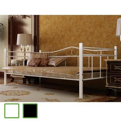 Tagesbett Einzelbett 90x200 Metallbett Metall Bett Bettgestell Bett Sofa