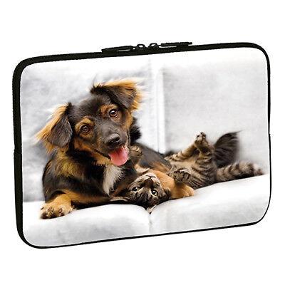Design Notebook Schutzhülle 13,3 Zoll Laptop Hülle Tasche - Hund Katze Dog Cat