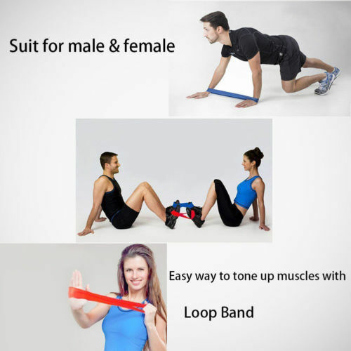 Resistance Bands Loop Set of 5 Exercise Workout CrossFit Fitness Yoga Booty Band 5