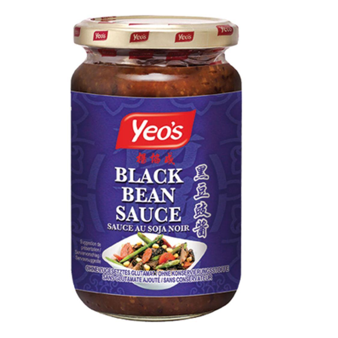 Schwarze Bohnen mit Knoblauch Sauce 270g Yeo´s Black Bean Sauce Sauce au Soja