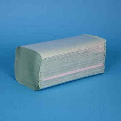 5000 Falthandtücher Papierhandtücher Einmalhandtücher grün 1-lagig Z Falz 25x23