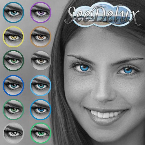 Farbige Jahres-Kontaktlinsen  in 12
