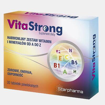 Vita-Strong 30 Tabletten (Vegan) für 30 Tage A-Z Multi-Vitamin & Mineralien