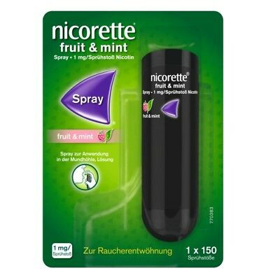 NICORETTE Fruit & Mint Spray 1 mg/Sprühstoß PZN 12552294 (214,24€/100ml)