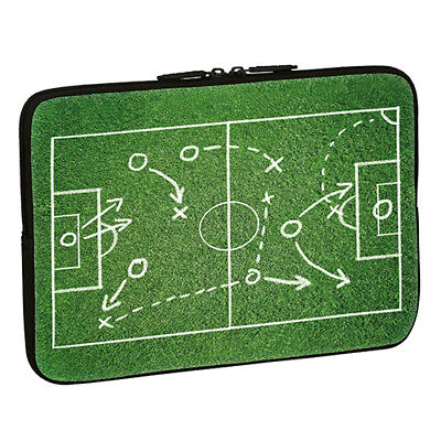 Design Notebook Schutzhülle 17,3 Zoll Laptop Hülle Tasche - Fußball Spielfeld