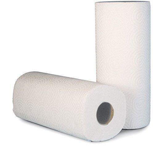 32 Küchenrollen Haushaltstücher Papiertücher saugstark HOCH WEISS 3-lagig