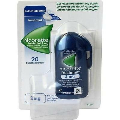 NICORETTE freshmint 2 mg Lutschtabletten gepresst 20 St PZN 9633899