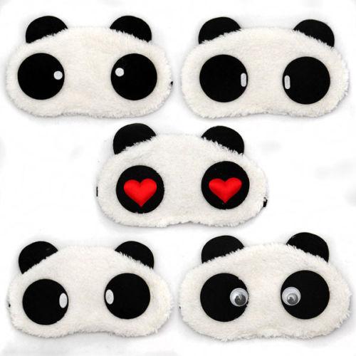Panda SCHLAFMASKE Augenbinde Schlafbrille Reisemaske Maske Augenmaske NEU&OVP