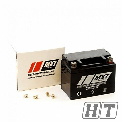 Bike Motorrad Roller Batterie AGM 12V 5ah Yb4l - B Cb4l - B 50411 neu