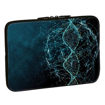 Design Notebook Schutzhülle 15,6 Zoll Laptop Hülle Tasche - DNA Strang Muster