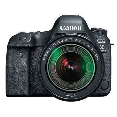 Canon EOS 6D Mark II Full Frame 26.2MP DSLR Camera with EF 24-105mm STM Lens