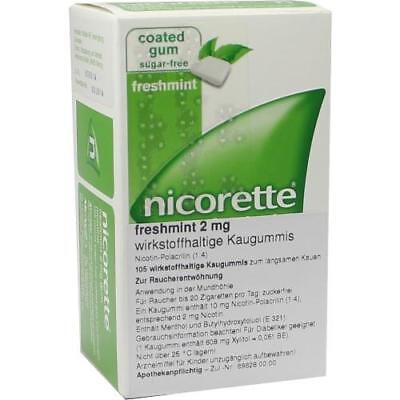 NICORETTE 2 mg freshmint Kaugummi 105 St PZN 6680071