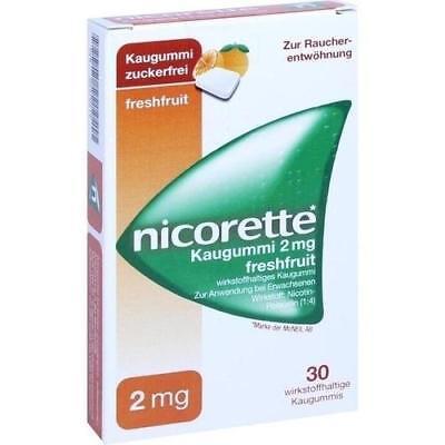 NICORETTE 2 mg freshfruit Kaugummi 30 St PZN 4370219