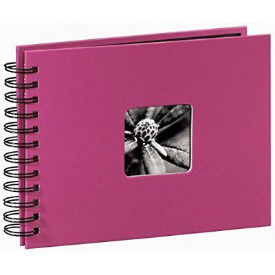 Hama Spiralalbum Fotoalbum pink 50 schwarze Seiten 24x17 Album Bilder Foto