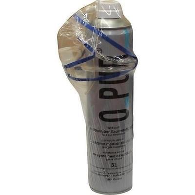 O PUR Sauerstoff Dose inkl.Maske u.Schlauch 8 l PZN 3044104