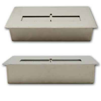 Bio Ethanol Burner Stainless Steel Adjustable Firebox Table Fireplace 2L / 30 cm