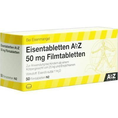 EISENTABLETTEN AbZ 50 mg Filmtabletten 50 St PZN 6683721