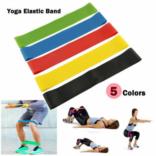 Resistance Bands Loop Set of 5 Exercise Workout CrossFit Fitness Yoga Booty Band 1