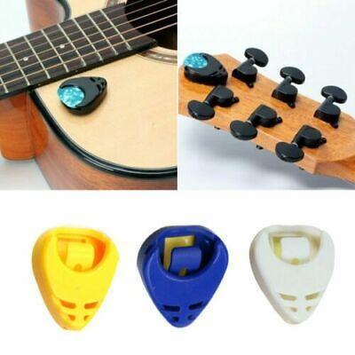 Self-Adhesive Plectrum Holder & 5 Assorted Picks Plec Acoustic Electric Guitar