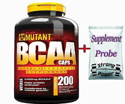 Mutant BCAA 200 Caps Aminosäuren Aminos L-Leucin L-Isoleucin L-Valin + BONUS