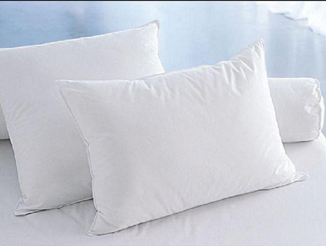 Luxus Baumwolle Kopfkissen Kissen 40x80 cm 50x70 cm 80x80 cm Weiß 2er Set