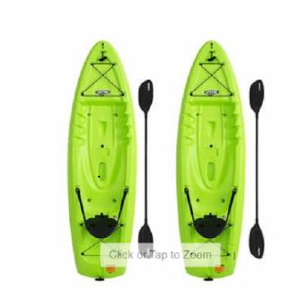 Lifetime Lotus 8.5 Sit-On-Top Kayak - 2 Pack (Paddles Included)