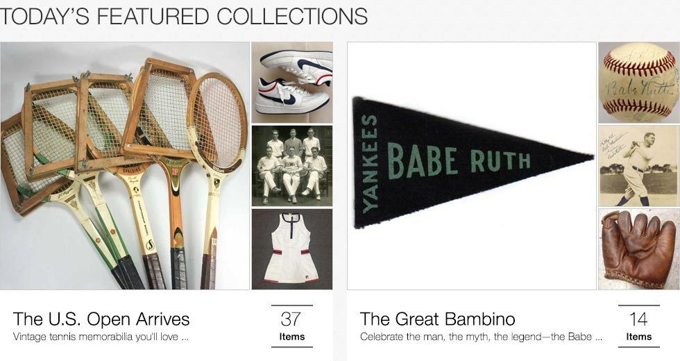 Today's featured collections | The U.S. Open arrives | The Great Bambino