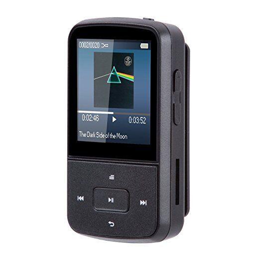 AGPTek G05S BLUETOOTH MP3 Player 8GB Mini Clip 1,5 Zoll Display mit FM-Radio