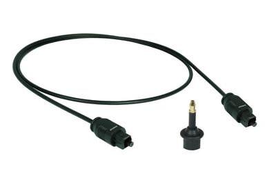 2,5m Optisches Toslink Digital Audio Kabel SPDIF + 3,5mm Klinken-Adapter #AC2.0