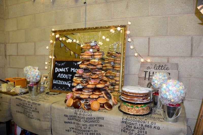 Cake Stand Krispy Kreme Donut Wedding Cake In