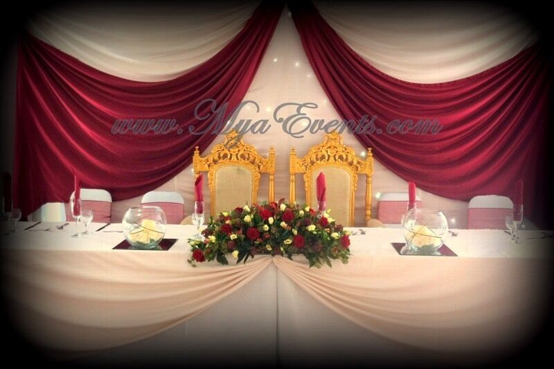 Head Table Decoration Hire 199 Throne Chair Hire Wedding