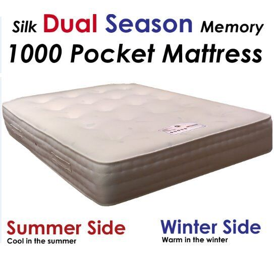 4ft6 Double Dual Season 1000 Pocket Memory Mattress Free Delivery