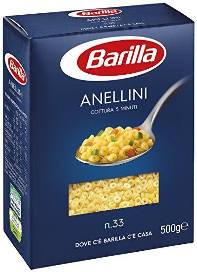 5x Pasta Barilla Anellini Nr. 33 italienisch Nudeln 500 g pack