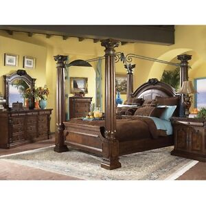 Ashley Casa Millino Millenium King Size Poster Canopy Bed See Details