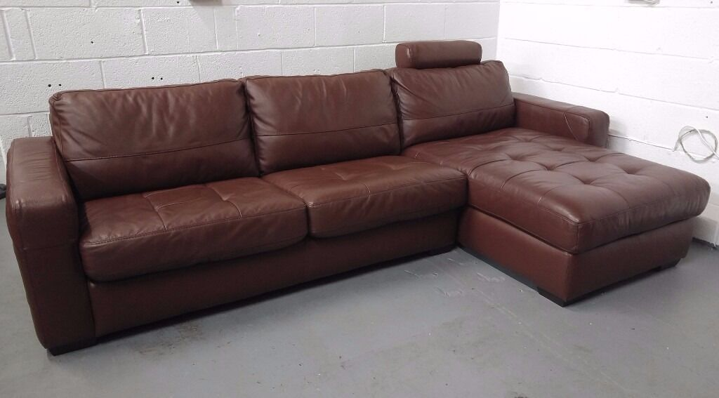 Dfs Leather Corner Sofa Bed With Bedding Storage Rhf Only Dfs ...