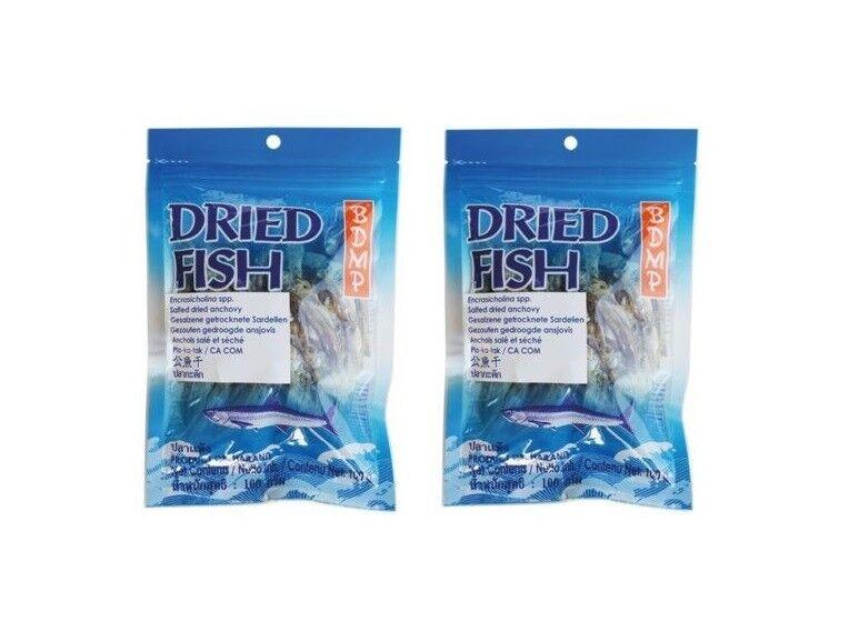 Doppelpack: 2 x 100g Getrocknete Sardellen Anchovys Trockenfisch Anchovis