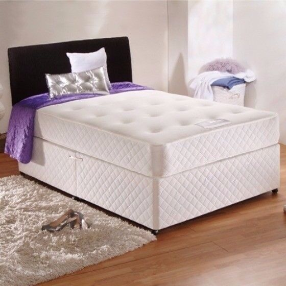 Made In The Uk Orthopedic Divan Bed Double Base With Mattress