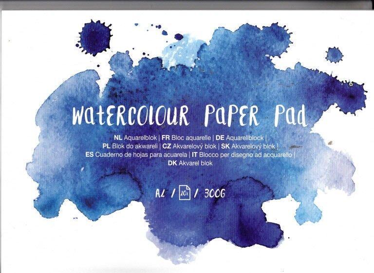 Watercolour Paper Pad A4 20 Seiten 300g/gm2