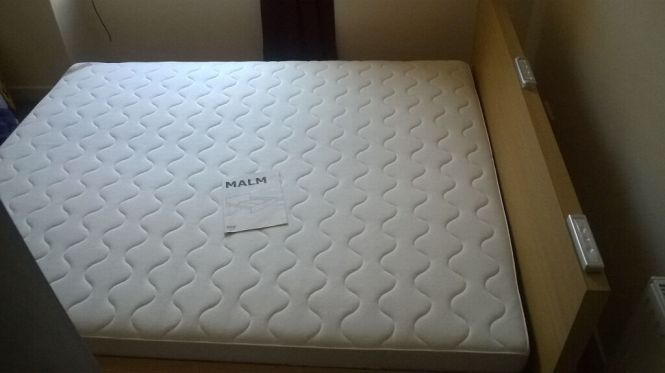 Sold Ikea Malm Bed Including Sultan Hamnvik Mattress Skorva And LurÖy Slates