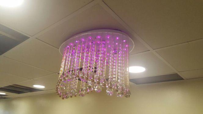 Crystal Ceiling Lights Modern Led Chandelier Rgb Mp3 Music Usb Remote Control