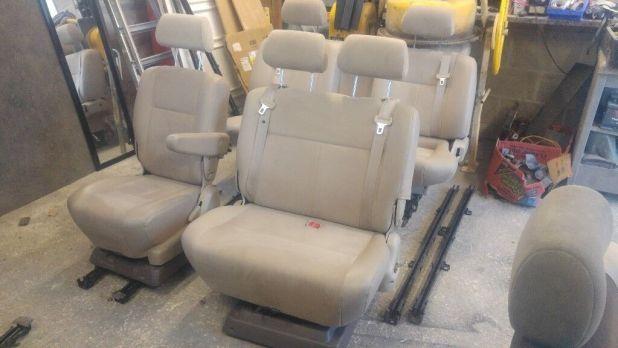 Leather Set Captain Seat Swivel Double Bench Big Triple Vw T4 T5 Transit Camper
