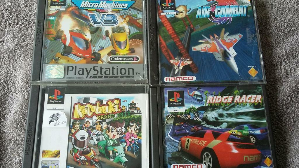 Playstation 1 Games Ridge Racerair Combatmicro Machines