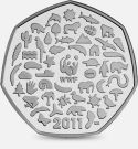 2011 50P COIN RARE WWF WORLD WILDLIFE FUND 50TH ANNIVERSARY FIFTY PENCE zz